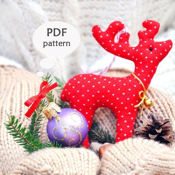 Reindeer Sewing Pattern Christmas