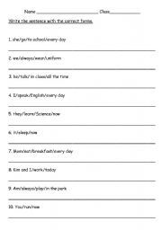 Worksheets English 2 Worksheets english worksheet present continous tense grade 2 print 2