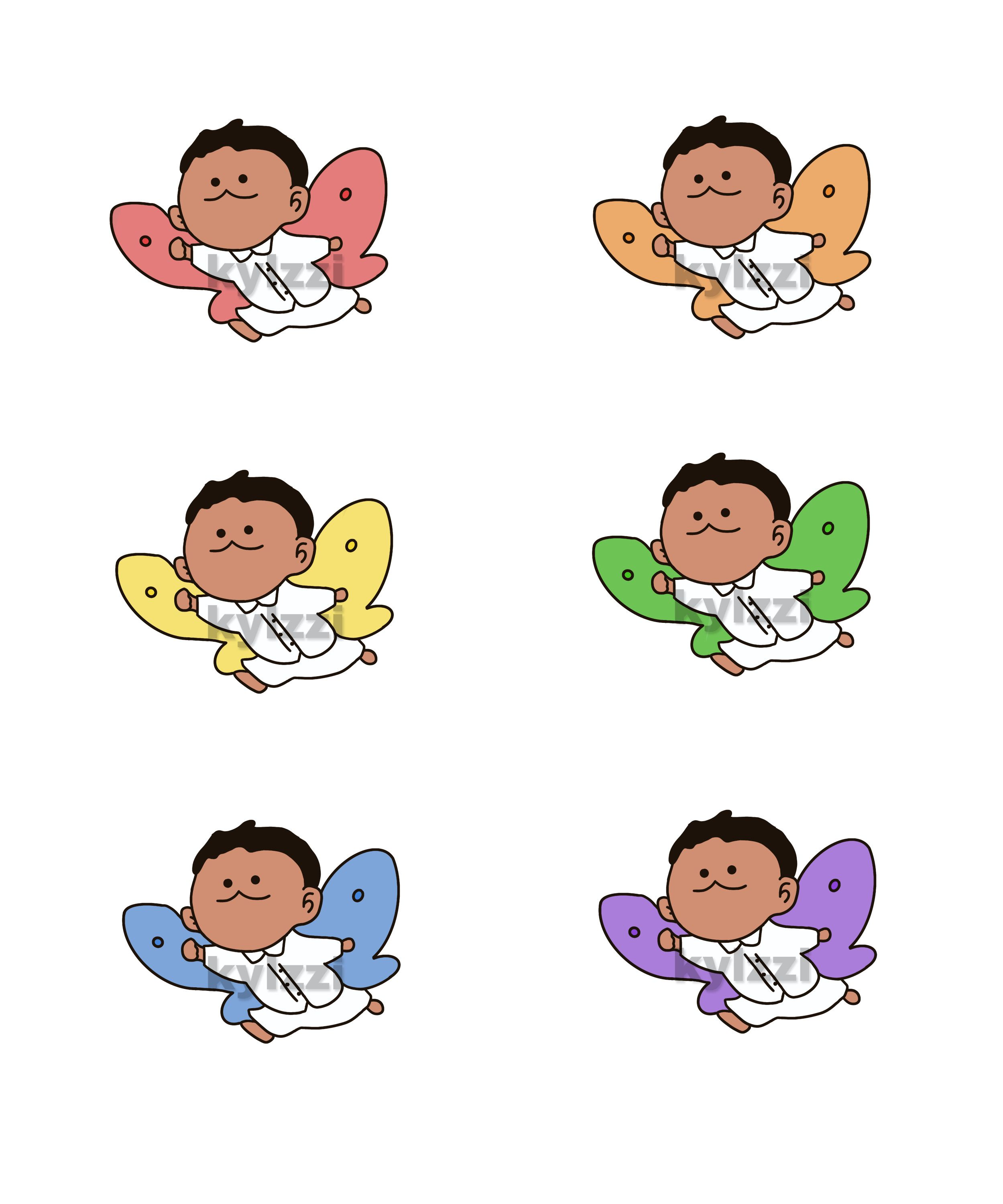 Phil as a butterfly stickers  | The Promised Neverland