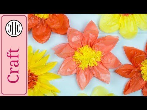 Giant Tissue Paper Flowers Easy Paper Craft Diy Diy Tissue