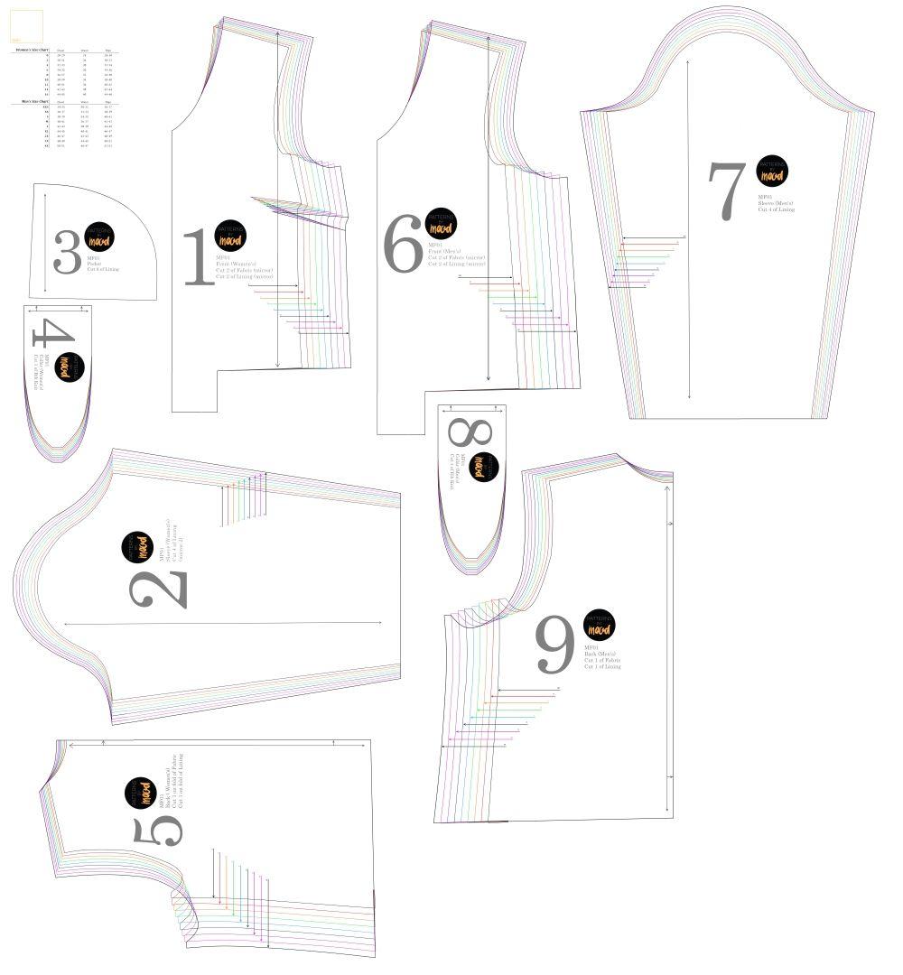 Mood DIY: Free Reversible Bomber Jacket Sewing Pattern | DIY Jacket ...