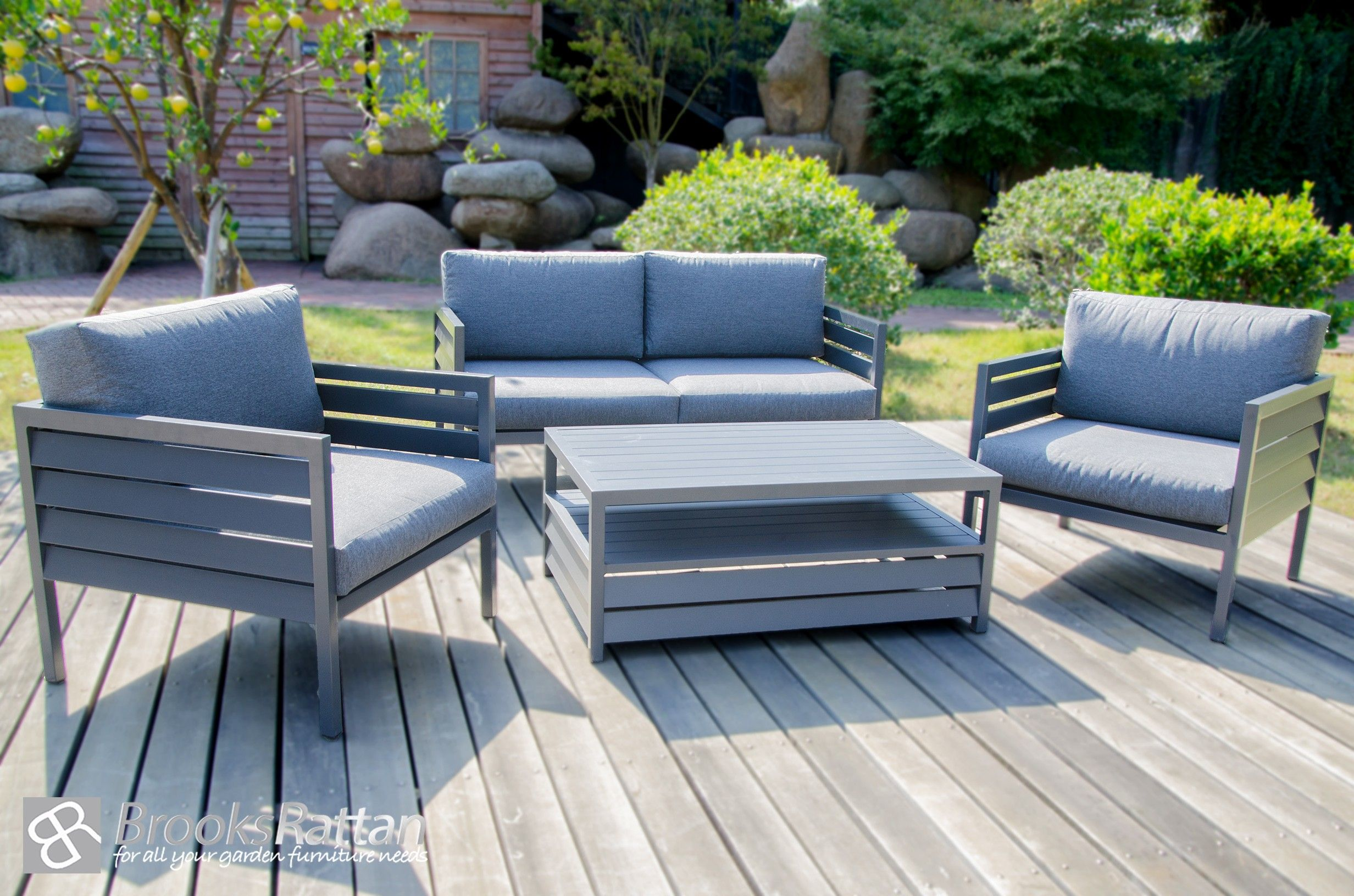 Terrific Shutter 4 Seater Sofa Set River Walk Rattan Garden Beutiful Home Inspiration Truamahrainfo