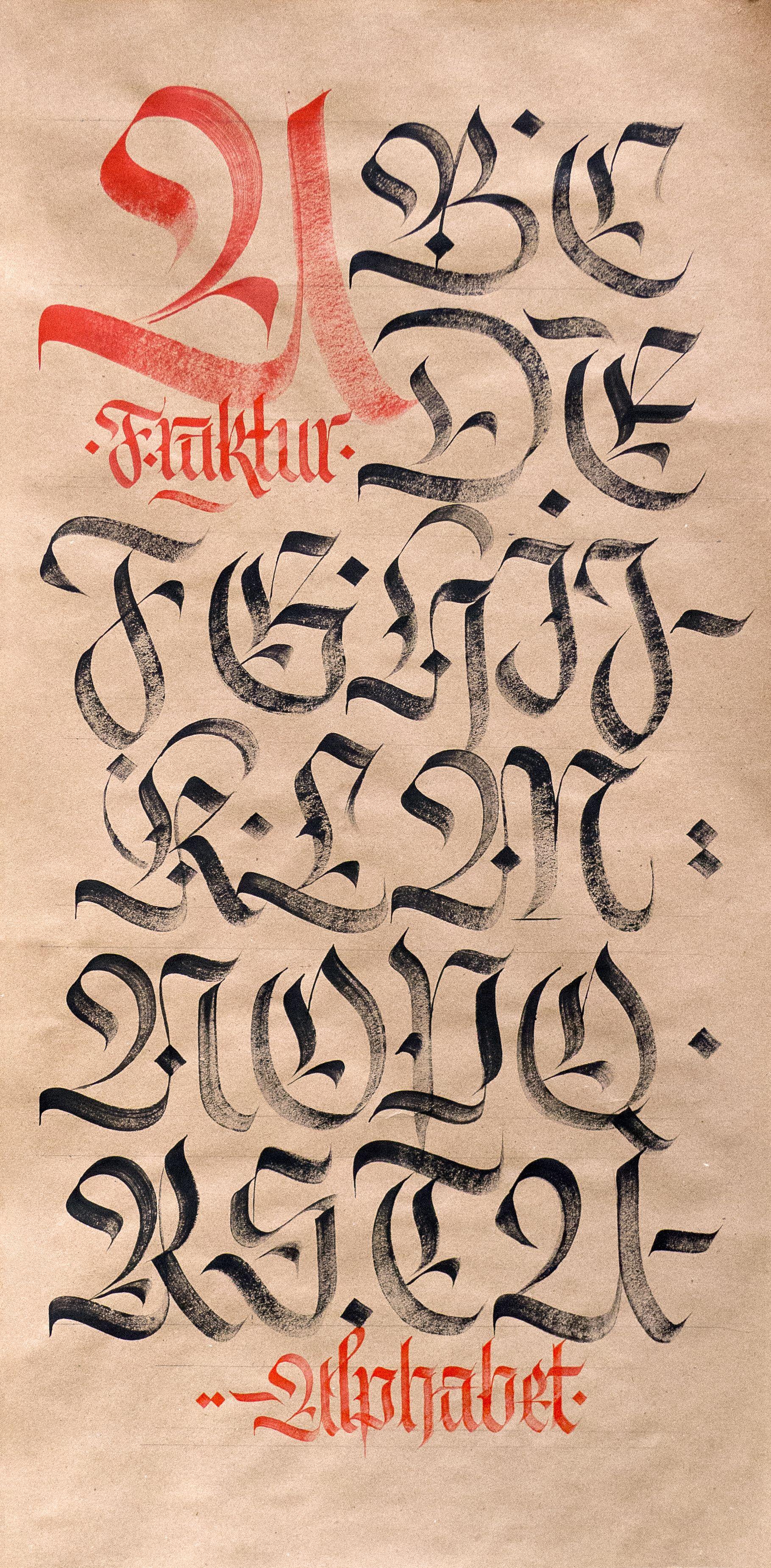 Calligraphy Letters Tag Alphabet Fraktur Capitals