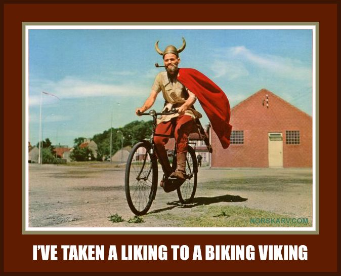 Ive Taken A Liking To A Biking Viking Meme Norway Norwegian