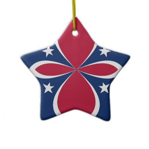 Red, White, and Blue Christmas Tree Ornament Ornaments Pinterest