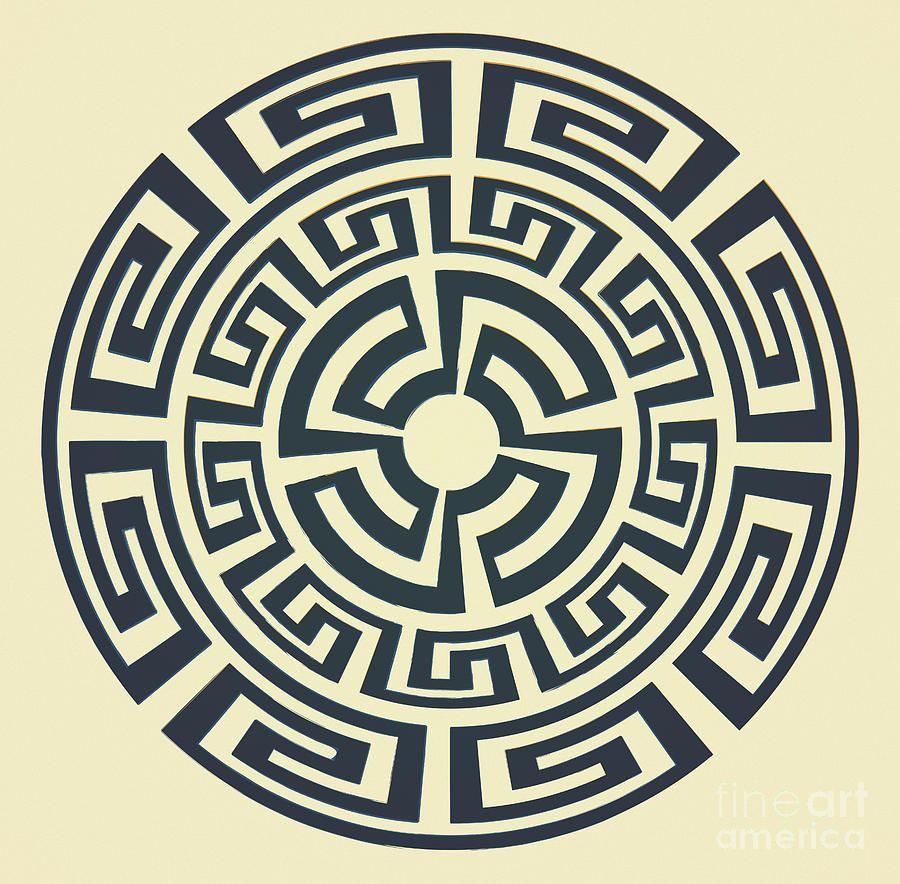 Greek Sun Print By Igor Kislev Aztec Art Sun Tattoo Pattern Tattoo