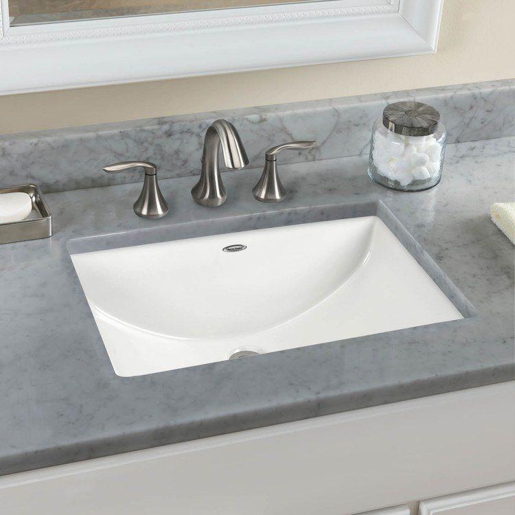Kohler K 2355 0 White Archer 19 7 8 Undermount Bathroom Sink With Overflow Faucet Com Undermount Bathroom Sink Bathrooms Remodel Bathroom Sink