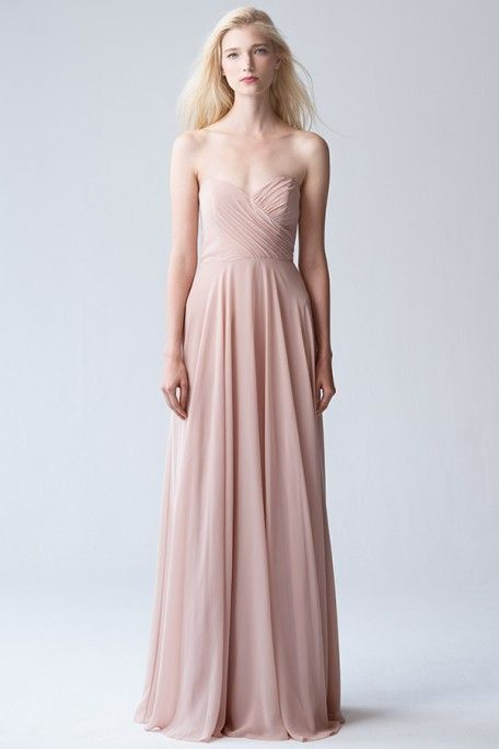 528cc7aff7e2 Strapless Bridesmaids Dress, Adeline in Desert Rose by Jenny Yoo. Blush  bridesmaids dress for all seasons; spring, summer, winter, and fall  weddings.