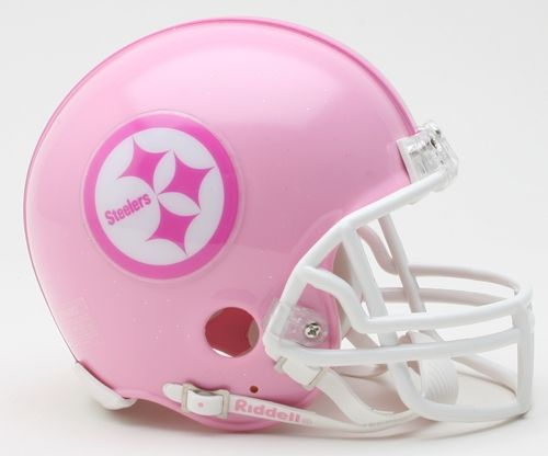 Riddell Pittsburgh Steelers Pink Replica Mini Helmet by Riddell. One Size  Fits All. 41d475207