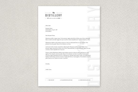 Upscale bar letterhead template a modern design which in addition upscale bar letterhead template a modern design which in addition to a logo and footer contact information also features your business name in spiritdancerdesigns Gallery