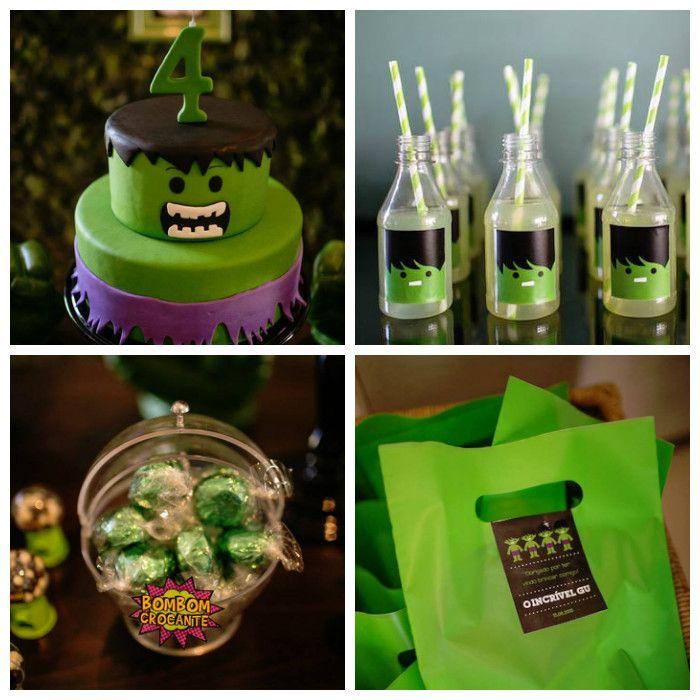 Incredible Hulk Themed Birthday Party via Karas Party Ideas – Hulk Party Invitations