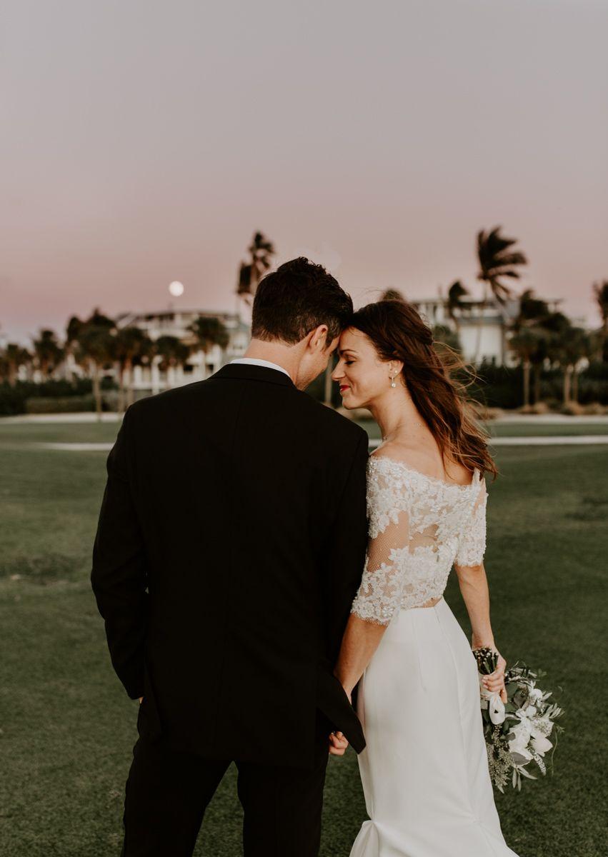 South Seas Captiva Island Chic Wedding Two Piece Wedding Dress Wedding Chic Wedding