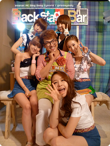 Pic 100805 Mcountdown Backstage Girls Day With Mc Ding Dong Girls Day Daily
