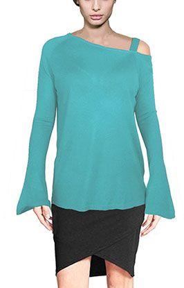 Asymmetric Offshoulder Fine Sweaters