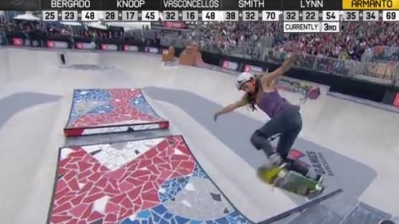 Lizzie Armanto wins the first Women's Skate Park in Barcelona May 2013