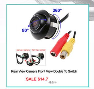 Backup Camera Car Camera Rear View Camera Front View Double To Switch 360 Degree