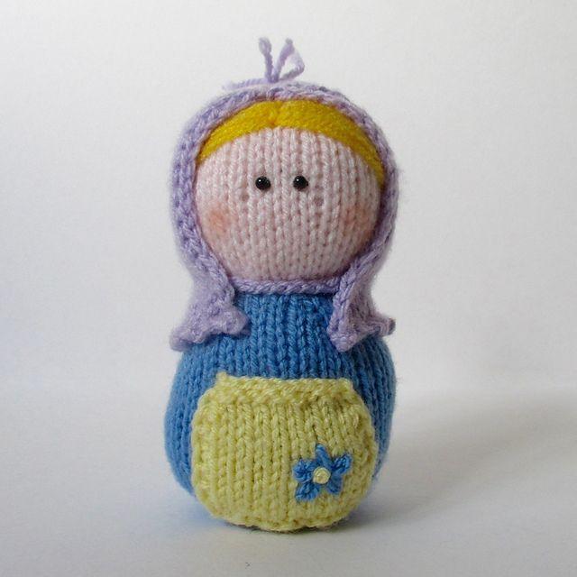 Matryoshka pattern by Amanda Berry   Knitted dolls ...