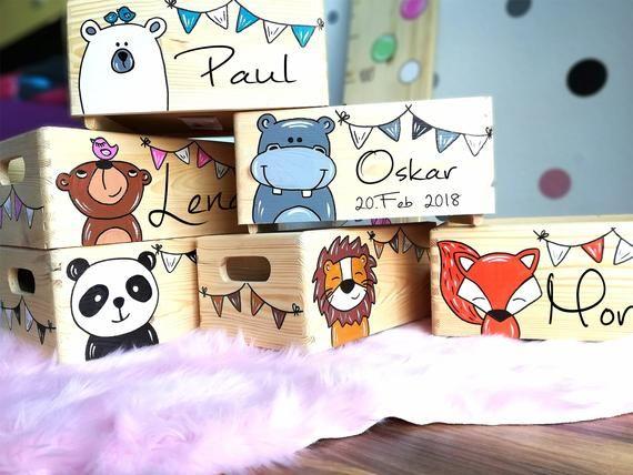 Memory box memory box toy box game box wooden box with name customizable baptismal gift