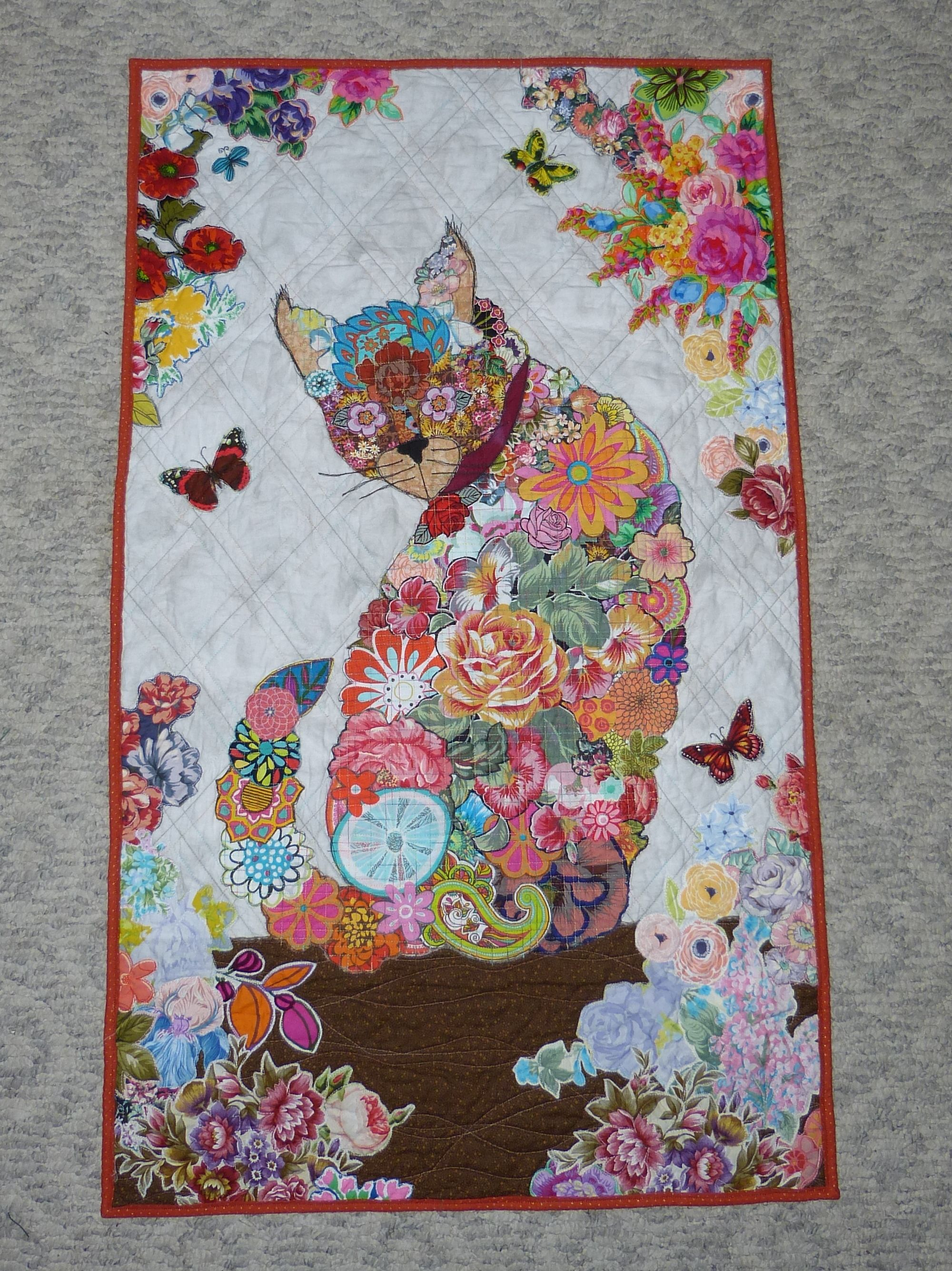 Purrfect Cat Collage Wall Hanging Quilt Pattern by Fiberworks