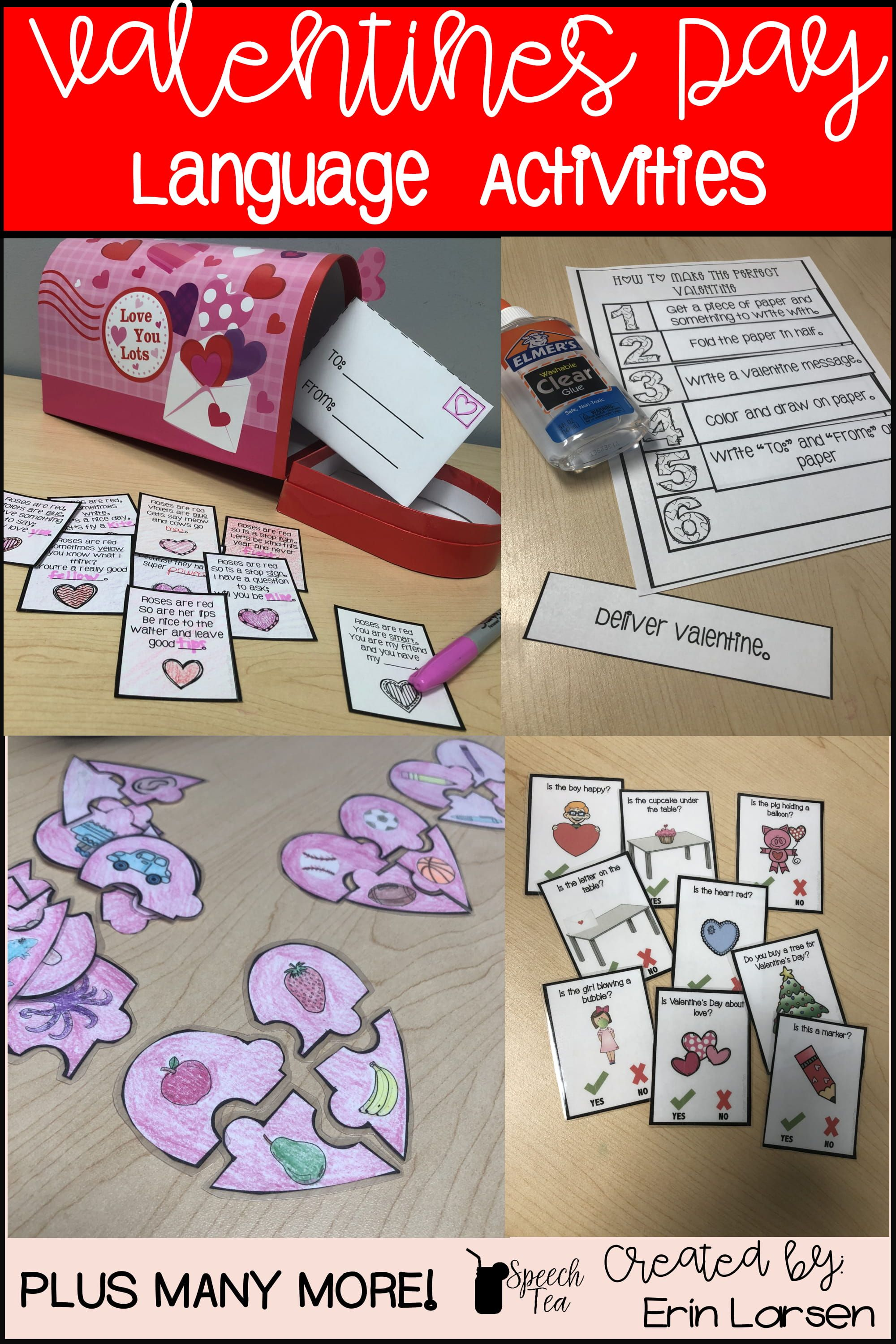 Save time and energy with these fun valentines day themed language activities. Multiple language targets covered. Click for more info.