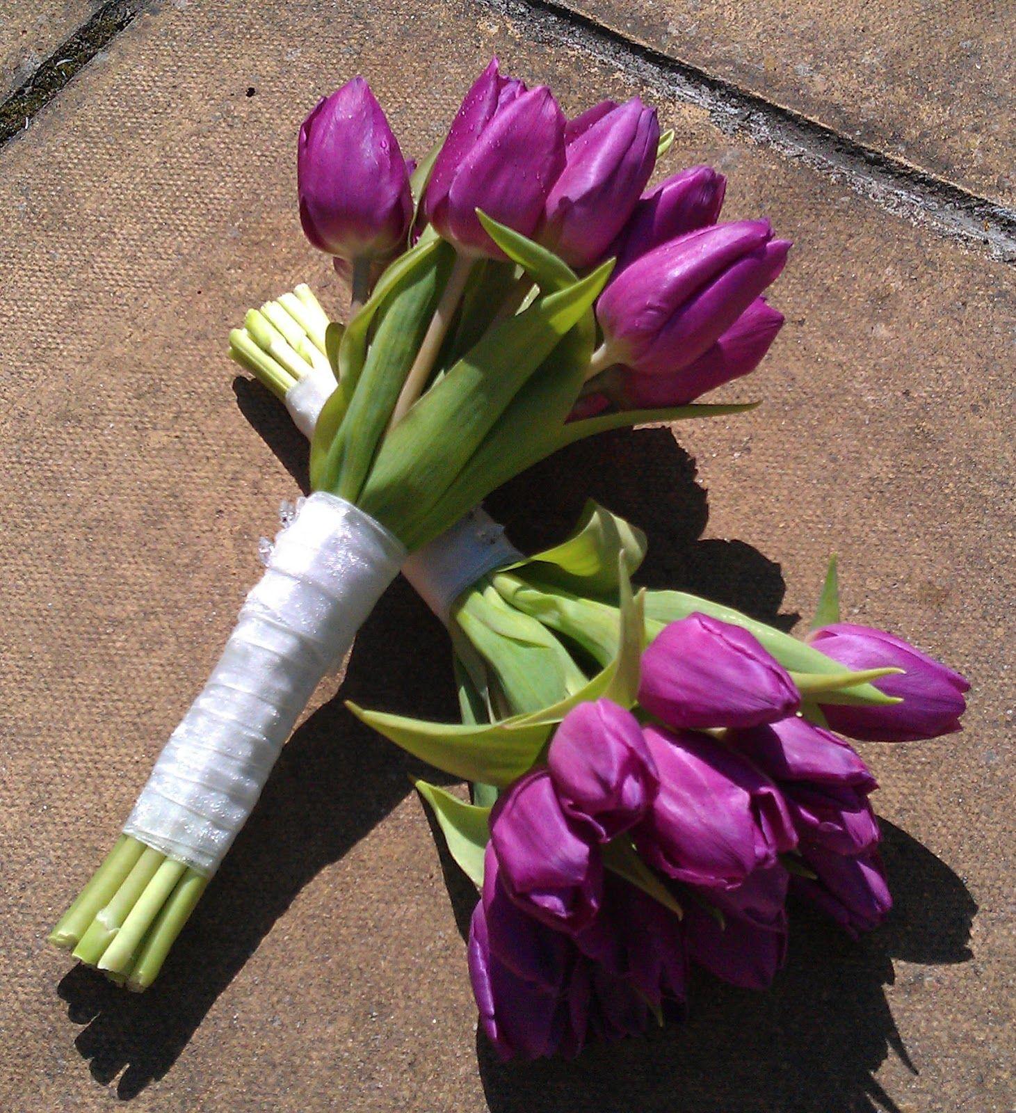 Whole Foods Wedding Bouquet: Purple Tulip Wedding Bouquet