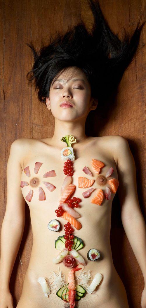 Naked sushi chicago eat off girl