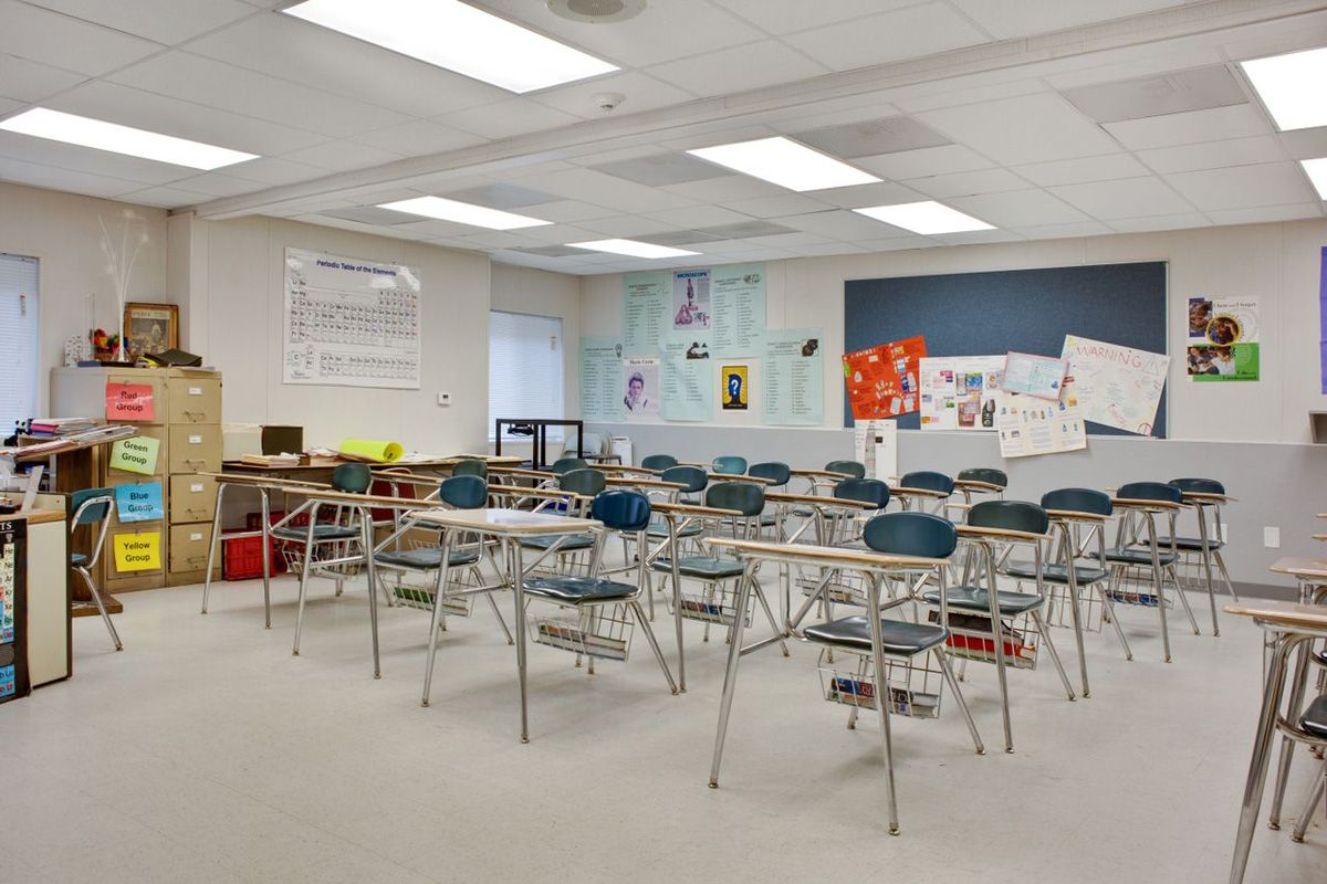 H C Wilcox Technical School Interior Classroom Side And