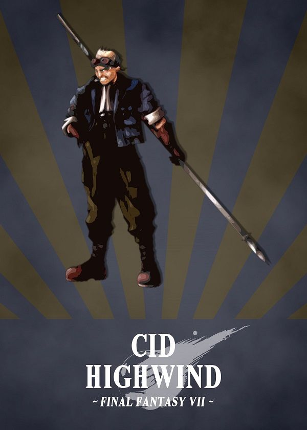Final Fantasy VII Radial Characters Displate Posters