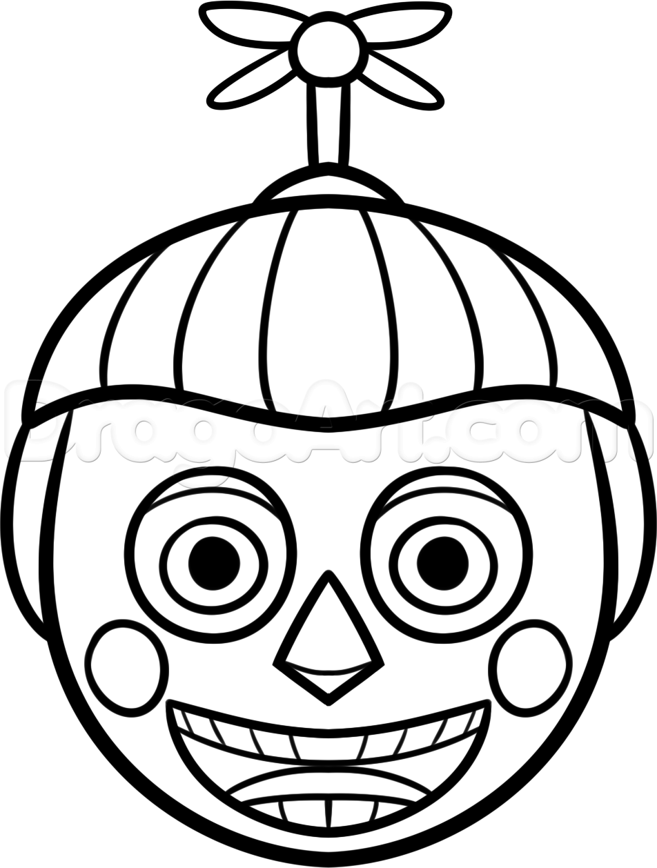 Freddys Nights At Five Balloon Coloring Pages Boy Sketch Page