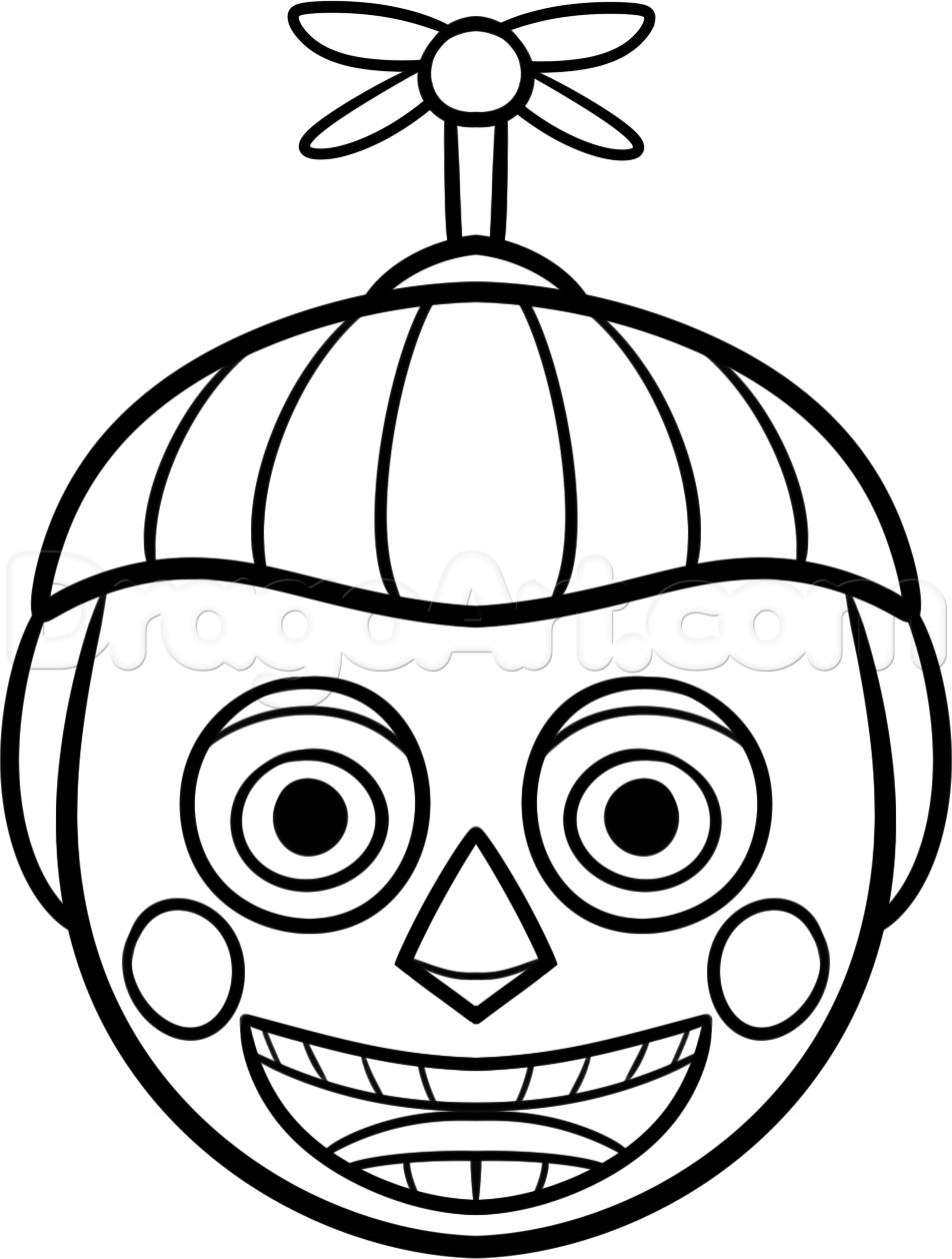 Freddy Fnaf Drawings Fnaf Coloring Pages Ballon Drawing