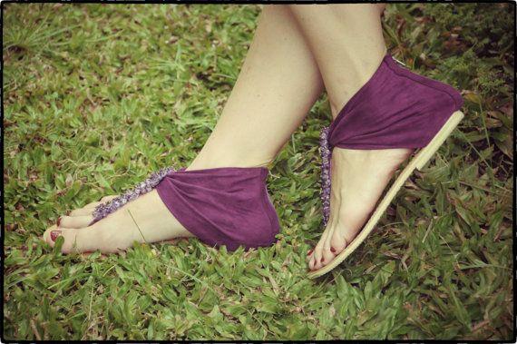 Purple sandals womens shoes Size 3740 by iLANDbali on Etsy, $55.00
