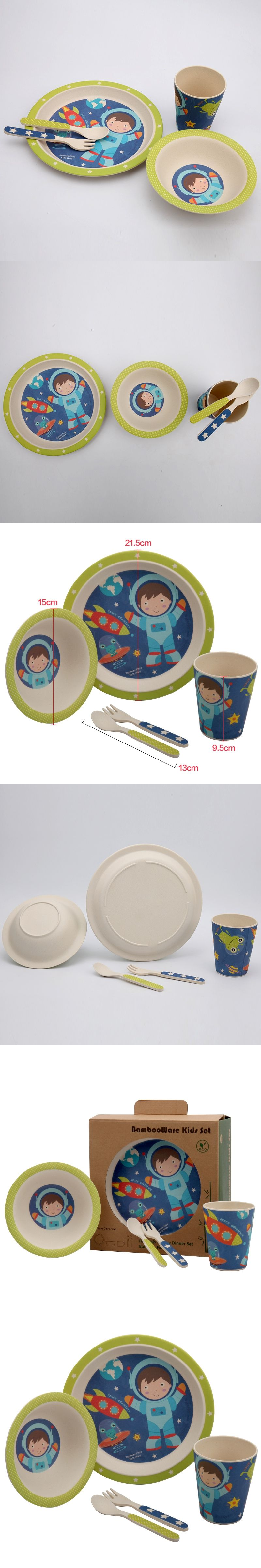 5pcs/set Baby Feeding Set with Bowl Plate Forks Spoon Cup Dinnerware Set Bamboo Fiber & 5pcs/set Baby Feeding Set with Bowl Plate Forks Spoon Cup Dinnerware ...