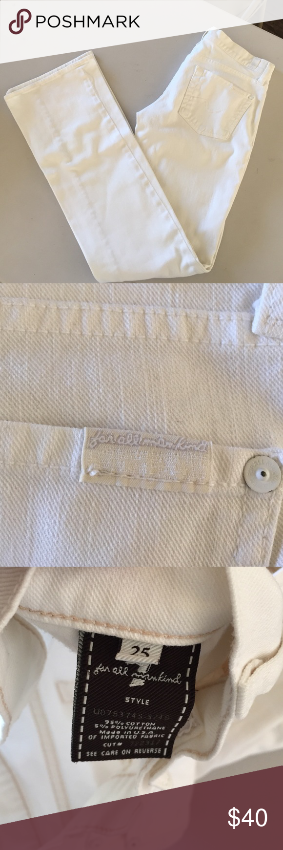 Seven 7 for All Mankind boot cut jeans white 25 Excellent condition 7 For All Mankind Jeans Boot Cut
