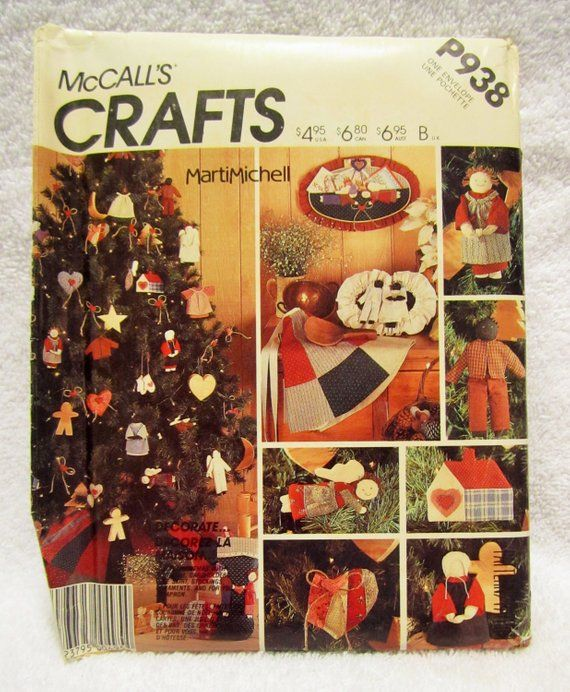 Folk Art Christmas, McCall\u0027s Craft Pattern P938, Primitive Christmas