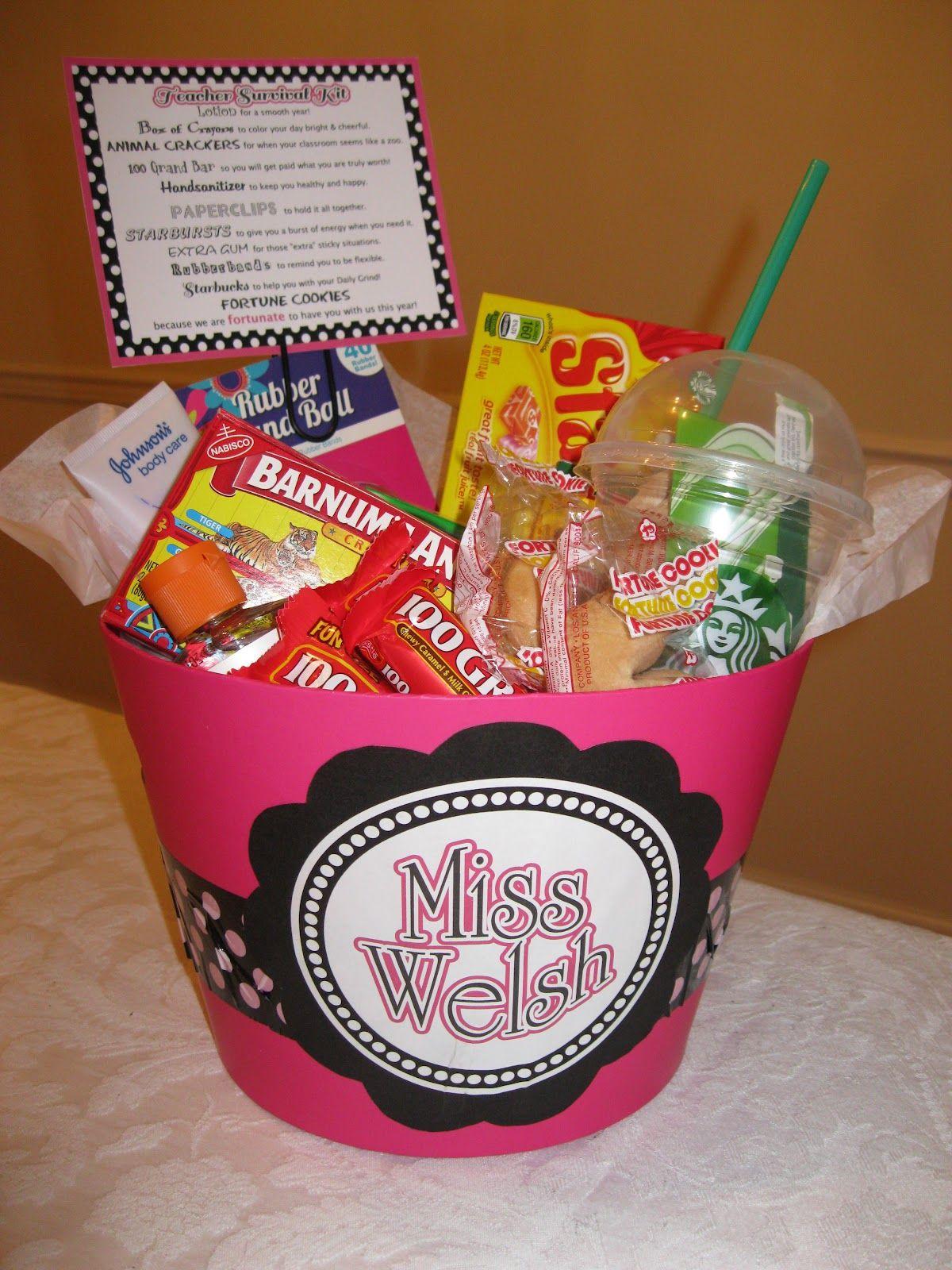 Teacher survival kit...cute gift. Must do for my grade level!