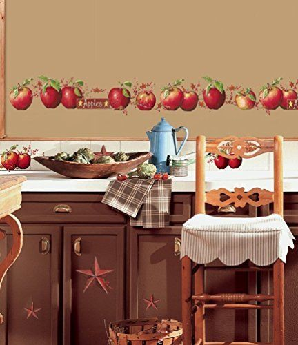 York Wallcoverings RoomMates Country Apples Peel U0026 Stick Wall Decals Red Home  Decor Wallpaper Wall Decals