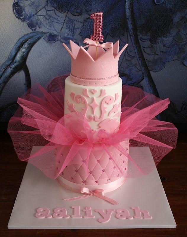 tutu cakes Aaliyahs Princess Tutu 1st Birthday Cake tu tu cake