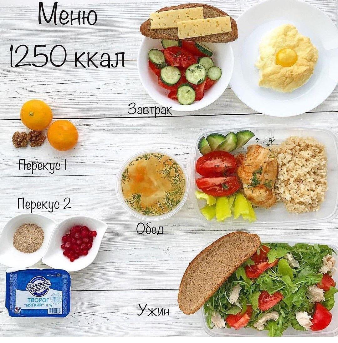 Здоровая диета 1200 ккал