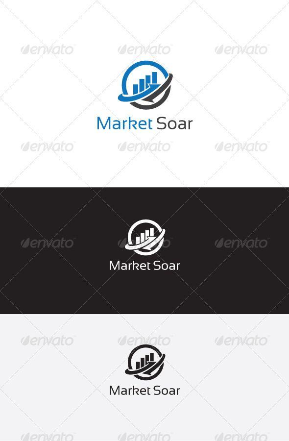 Market Soar Logo Template Logo Templates Logo Design Template Abstract Logo
