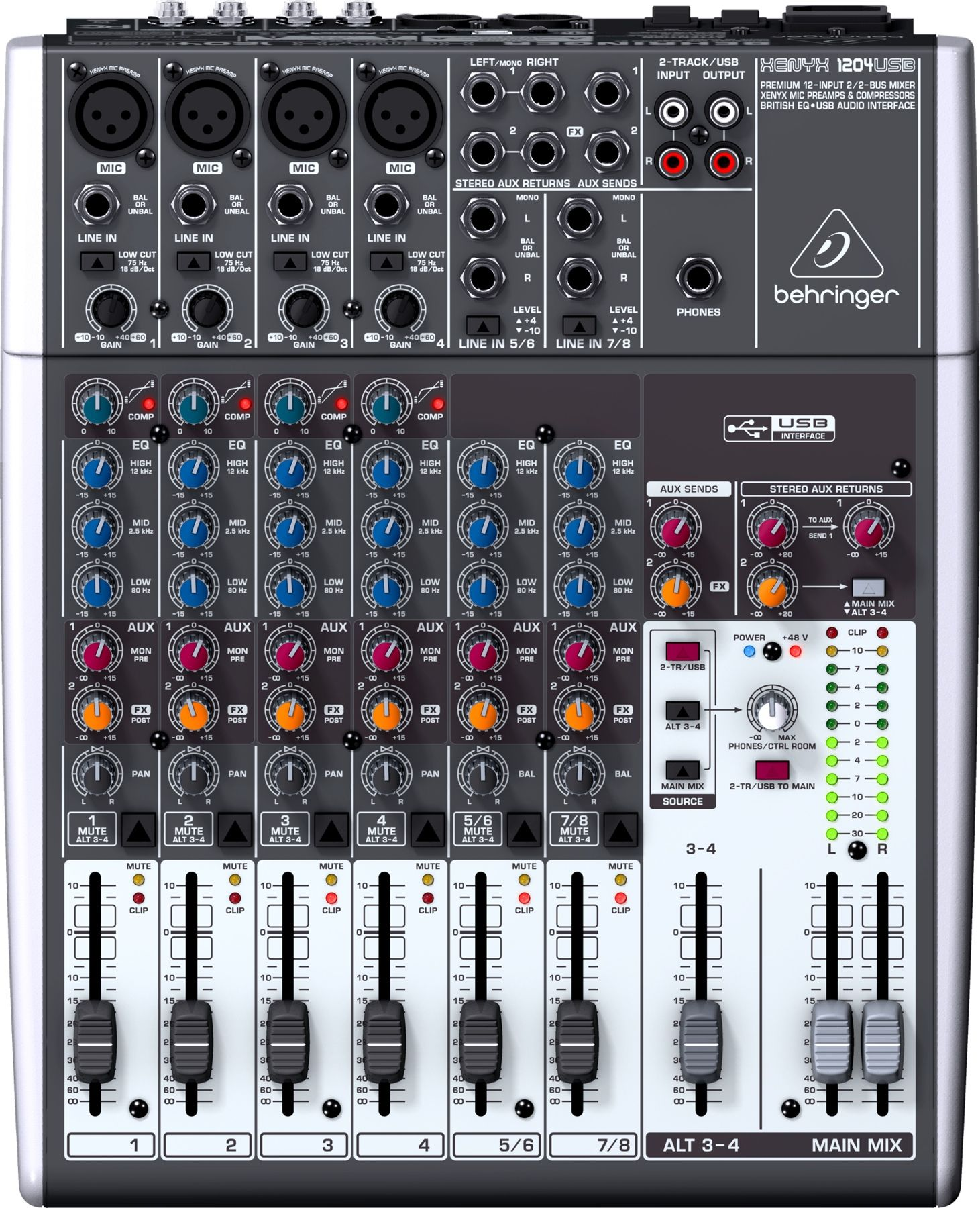 Behringer Xenyx 1204usb Mixer With Usb With Images Audio
