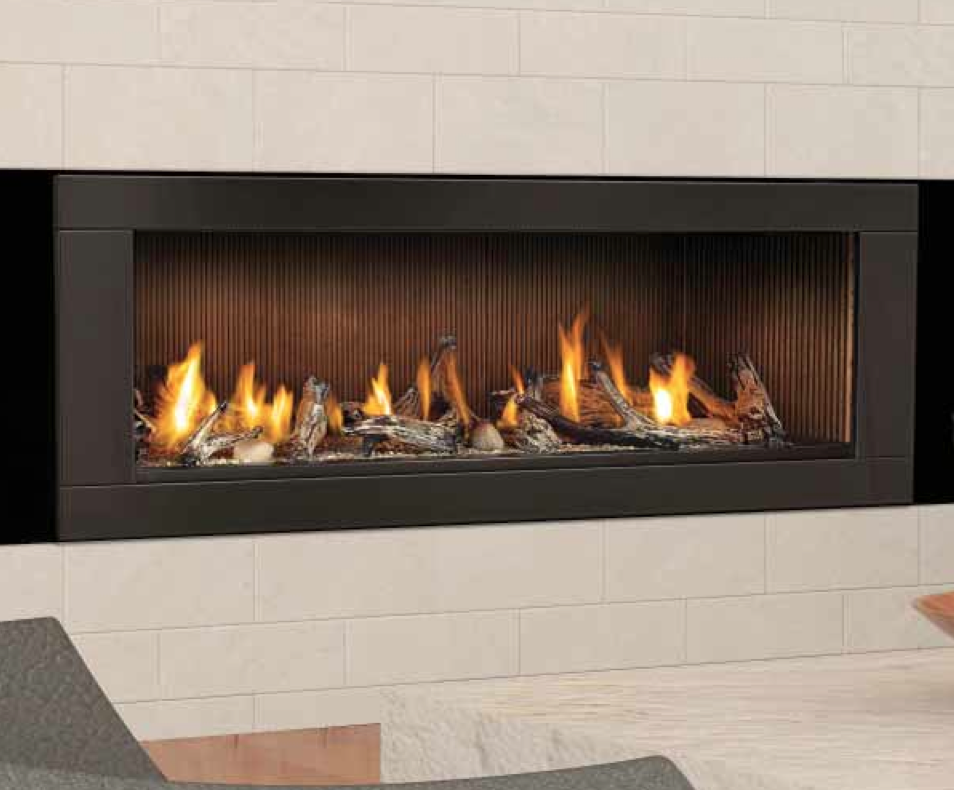 Napoleon Lhd62 With Black Trim And Fluted Panels With Images