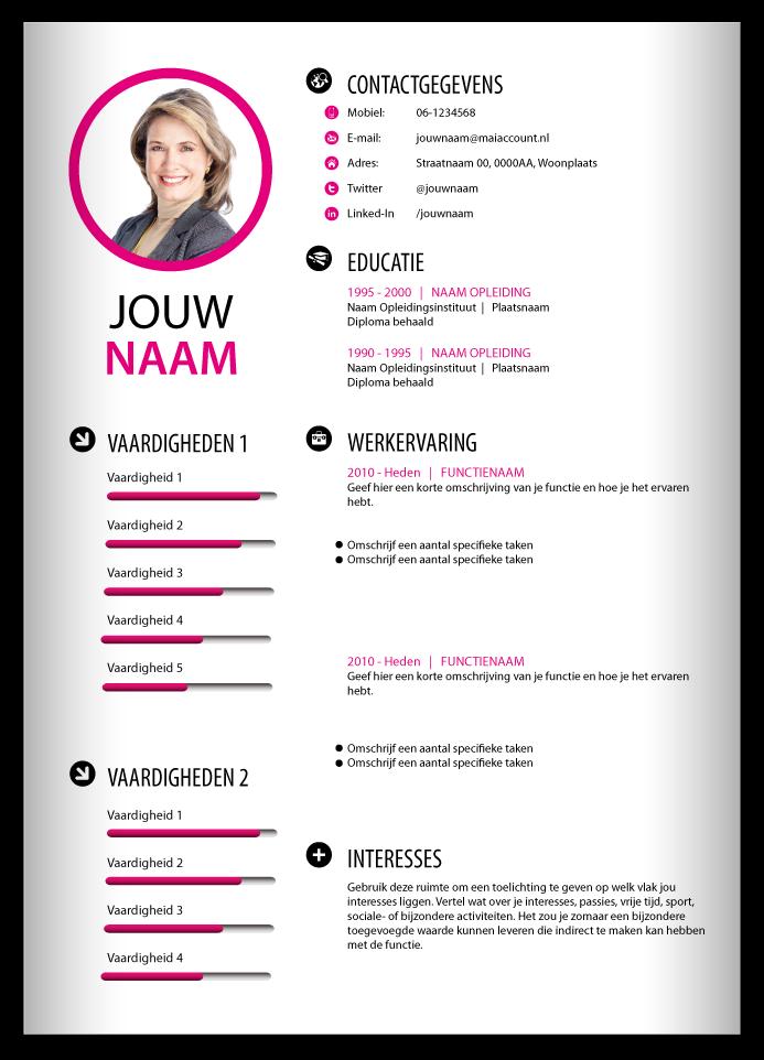 CV voorbeeld. Creatief cv, Creatief cv ontwerp, Creatieve cv