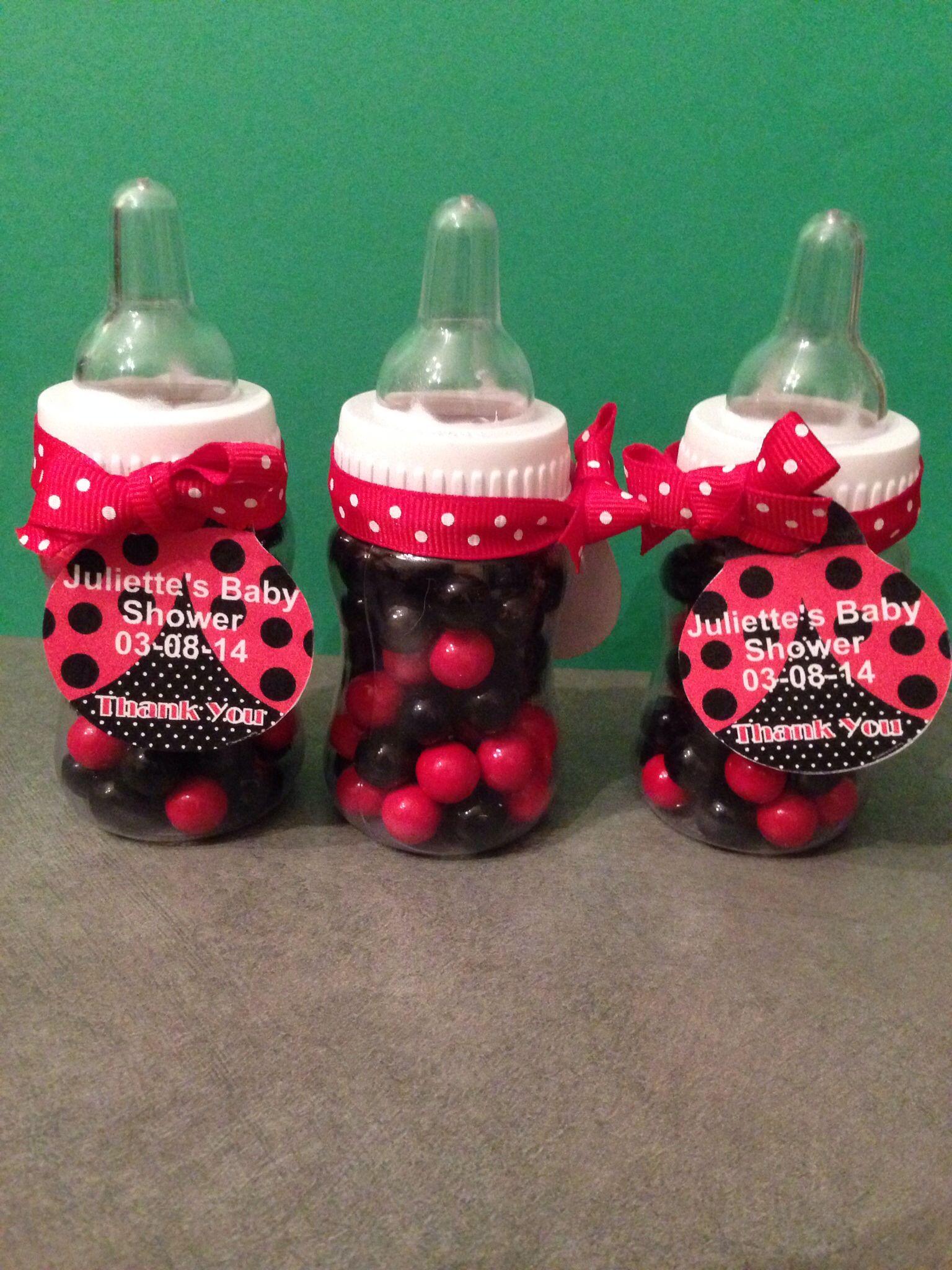 ladybug baby shower favor