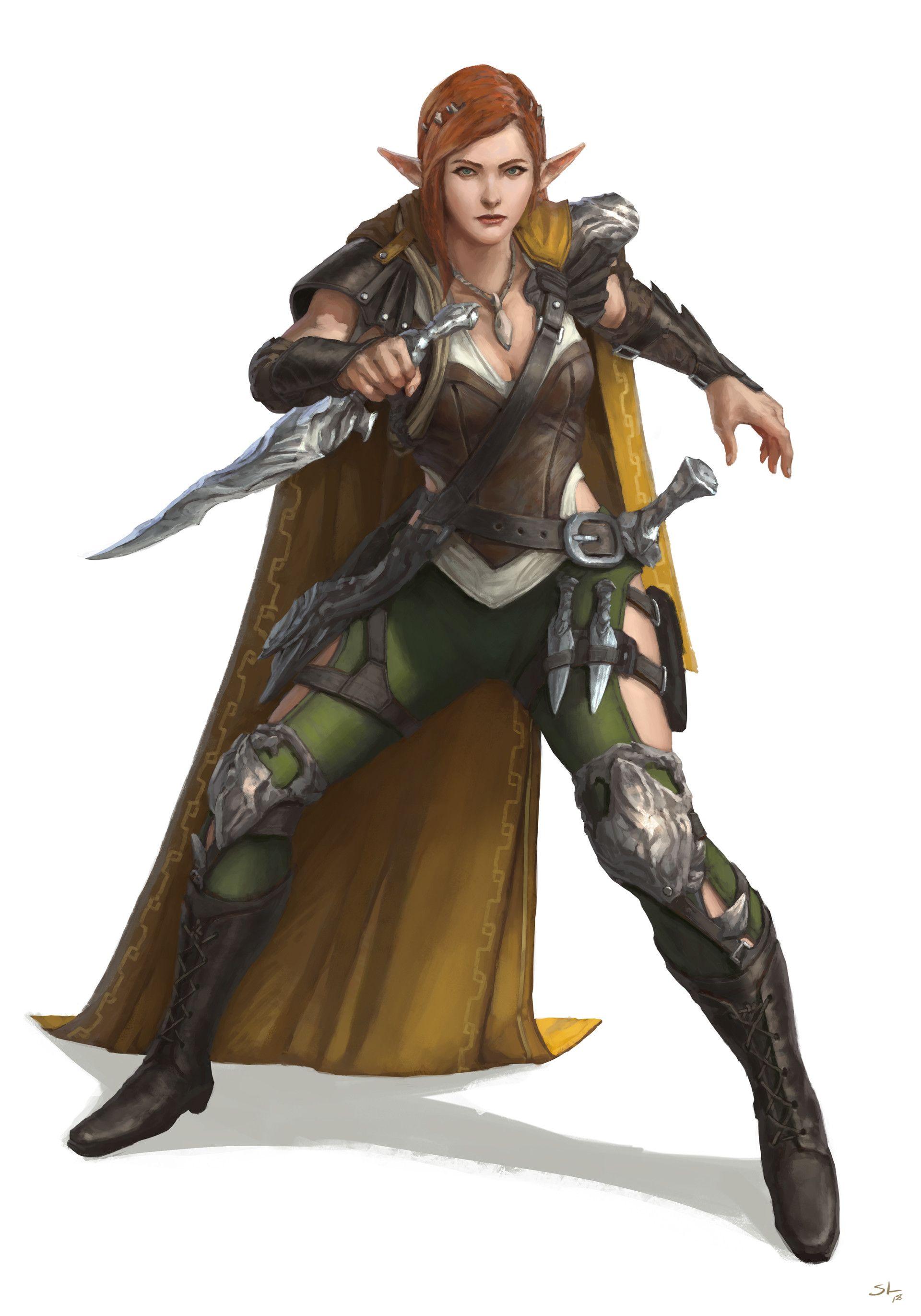 ArtStation - Rogue girl character, Sam Leung   OC ideas in