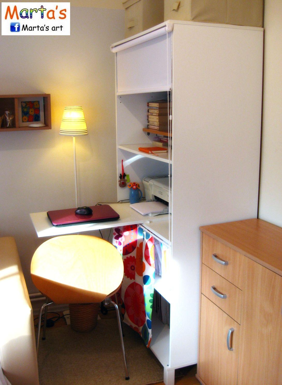 a tiny IKEA home office (ANEBODA wardrobe hack) | Home | Pinterest