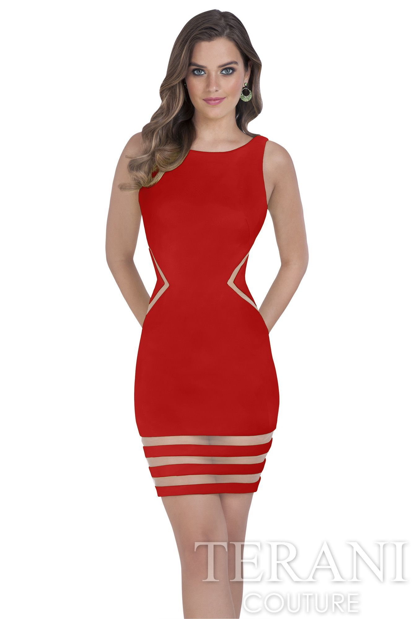 Sale Terani Short Fitted Neoprene Prom Gown | Dresses | Pinterest