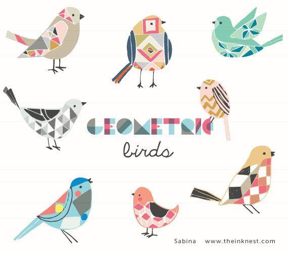 새를 다양한 패턴으로 재미있게 표현했다.