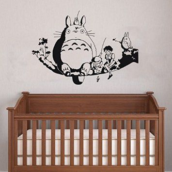 Delicieux My Neighbour Totoro Wall Decor Decal Baby Kidu0027s Room Sticker Nursery Wall  Art Decor Mural (black)