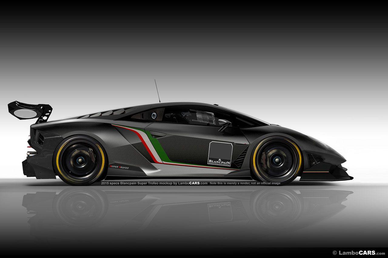 a virtual mockup of how a 2015 specs blancpain super trofeo race car could look being - Sports Cars Lamborghini 2015
