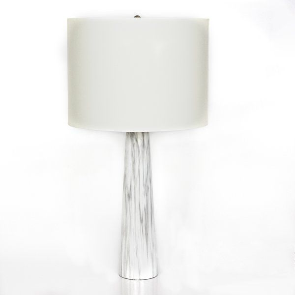 Found It At AllModern   Tapered Faux Marble H Table Lamp